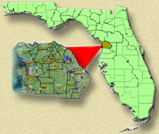 Heritage Active Adult Community in Citrus County Florida Map and