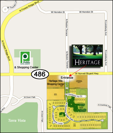 Hernando Florida Map.Heritage Active Adult Community In Citrus County Florida Map And
